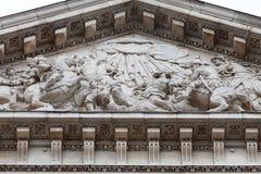 18世纪圣保罗大教堂,伦敦,英国 免版税图库摄影