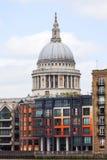 18世纪圣保罗大教堂,伦敦,英国 库存照片