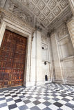 18世纪圣保罗大教堂,入口,伦敦,英国的细节 免版税库存图片