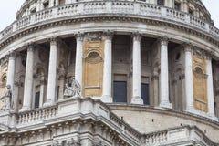 18世纪圣保罗大教堂,圆顶,伦敦,英国 免版税库存图片