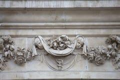18世纪圣保罗大教堂,在门面,伦敦,英国的安心 库存照片