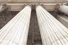 18世纪圣保罗大教堂,装饰专栏,伦敦,英国 库存照片