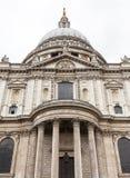 18世纪圣保罗大教堂,装饰专栏,伦敦,英国 免版税图库摄影