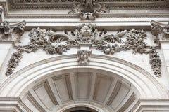 18世纪圣保罗大教堂,细节,伦敦,英国 免版税库存照片
