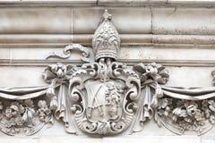 18世纪圣保罗大教堂,细节,伦敦,英国 库存照片