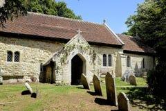 11世纪圣博尼法切教会,怀特岛郡 免版税库存照片