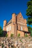 15世纪圣迈克尔在Synkovichy,哥罗德诺地区加强了教会 迟来的 库存图片