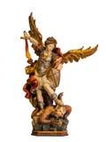 18世纪圣迈克尔天使雕象 免版税库存图片