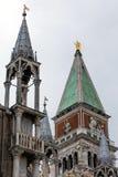 16世纪圣马克的钟楼的上面 库存图片