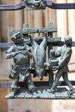 14世纪圣Vitus大教堂,金门篱芭图,安心,布拉格,捷克 免版税库存照片