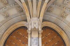 14世纪圣Vitus大教堂,金门,布拉格,捷克 免版税库存照片