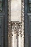 14世纪圣Vitus大教堂,门面,安心,哥特式门户,布拉格,捷克 免版税图库摄影