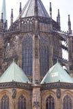 14世纪圣Vitus大教堂,门面,布拉格,捷克 图库摄影