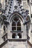 14世纪圣Vitus大教堂,门面,窗口,布拉格,捷克 库存图片