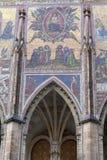 14世纪圣Vitus大教堂,门面,马赛克,前评断,布拉格,捷克 免版税库存照片