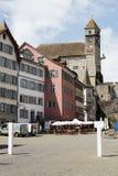 13世纪城堡在拉珀斯维尔 库存照片