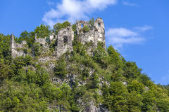13世纪城堡废墟 图库摄影