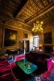17世纪城堡的内部家具沙龙 库存照片
