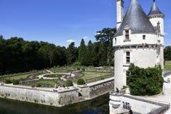 15世纪城堡Château de肖蒙,在1560年获取由凯瑟琳de Medici 肖蒙苏尔卢瓦尔河,卢瓦尔谢尔省,嘘法国- 免版税库存图片
