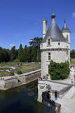 15世纪城堡Château de肖蒙,在1560年获取由凯瑟琳de Medici 肖蒙苏尔卢瓦尔河,卢瓦尔谢尔省,嘘法国- 库存照片