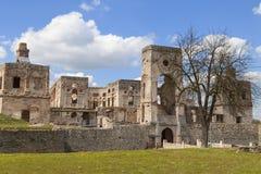 17世纪城堡Krzyztopor,在fortezza,乌亚兹德,波兰的意大利样式palazzo 免版税库存图片