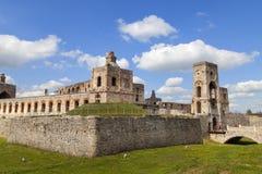 17世纪城堡Krzyztopor,在fortezza,乌亚兹德,波兰的意大利样式palazzo 库存照片