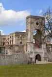 17世纪城堡Krzyztopor,在fortezza,废墟,乌亚兹德,波兰的意大利样式palazzo 免版税库存照片