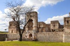 17世纪城堡Krzyztopor,在fortezzza,废墟,乌亚兹德,波兰的意大利样式palazzo 库存照片