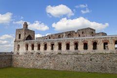 17世纪城堡Krzyztopor,在fortezzza,废墟,乌亚兹德,波兰的意大利样式palazzo 免版税库存照片