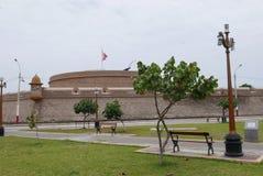 18世纪堡垒在卡亚俄,秘鲁 库存照片