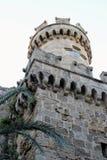 15世纪塔楼罗得岛镇希腊 库存照片
