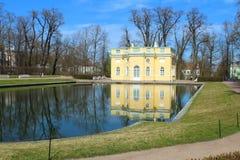 18世纪夏天亭子  俄罗斯, StPetersburg, Tsarskoye Selo 库存图片
