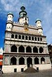 16世纪大厅波兰波兹南城镇 库存照片