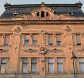 19世纪大厦门面在锡比乌,罗马尼亚 免版税库存图片