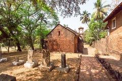 17世纪大厦,修建由葡萄牙人在果阿旧城,印度 科教文组织世界遗产站点 库存照片