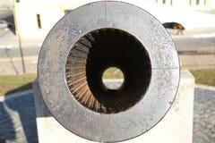 19世纪大炮在陶格夫匹尔斯fortness的 库存图片