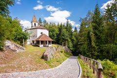 14世纪小教会  免版税库存照片