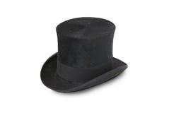 19世纪帽子丝绸顶层 免版税库存图片