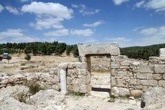 1世纪广告,以色列的犹太教堂的废墟 免版税库存照片