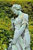 19世纪庭院雕塑  免版税库存照片