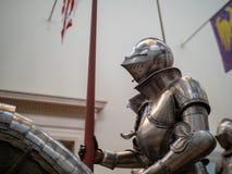 16世纪德国盔甲显示在Th附近的时期的 免版税库存照片