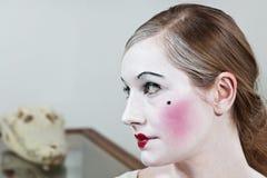 18世纪戏剧性化妆师 免版税库存图片