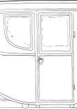 18世纪支架细节概述 库存例证