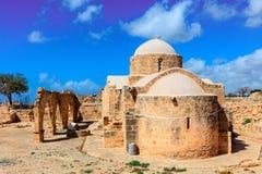 12世纪教会在塞浦路斯 库存照片