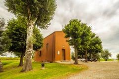 18世纪教会在意大利乡下 免版税图库摄影