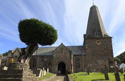 13世纪教会在萨默塞特 免版税库存照片