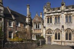 14世纪教区牧师步行-维尔斯-英国 免版税库存图片