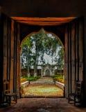 16世纪教区门道入口 库存照片