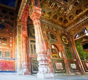 18世纪曼达瓦堡垒壁画和壁画  库存图片