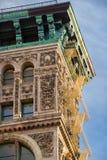 19世纪末大厦门面在伦敦苏豪区,曼哈顿,纽约 免版税库存照片